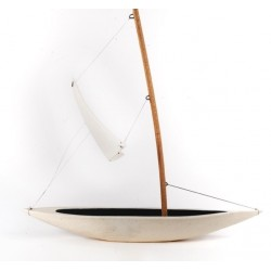 PANDORA ARTSHOP SAILBOAT CLAY SCULPTURE 33x34.5x9cm.