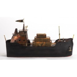 PANDORA ARTSHOP COPPER AND BRASS SHIP 36x20x12cm.