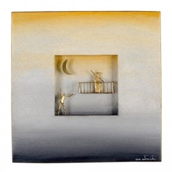 WALLPIECE COUPLE ON THE BALCONY - WEDDING GIFT