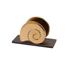 PANDORA ARTSHOP CARDHOLDER NAUTILUS BRONZE 9x5.5x3.5cm.
