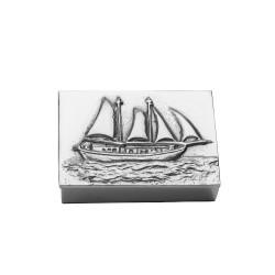 PANDORA ARTSHOP BOX - SHIP ALUMINIUM 10.5x7.5x3cm.