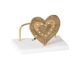 PANDORA ARTSHOP CARDHOLDER HEART.BRASS ON MARBLE 7x10x7cm.