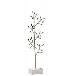 BRASS OLIVE BRANCH ON MARBLE BASE 36x10cm.