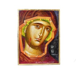PANDORA ARTSHOP ICON VIRGIN MARY PORTAITISA EGG-TEMPERA ON WOOD 40x30x4cm