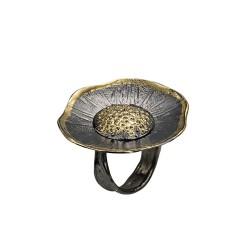 PANDORA ARTSHOP RING GOLD 18K ,SILVER 925° ADJUSTABLE